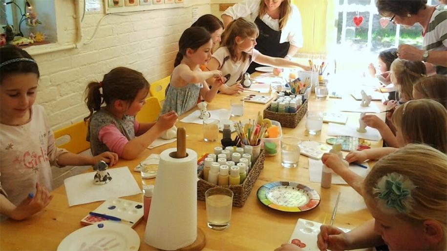 children at arts ad crafts