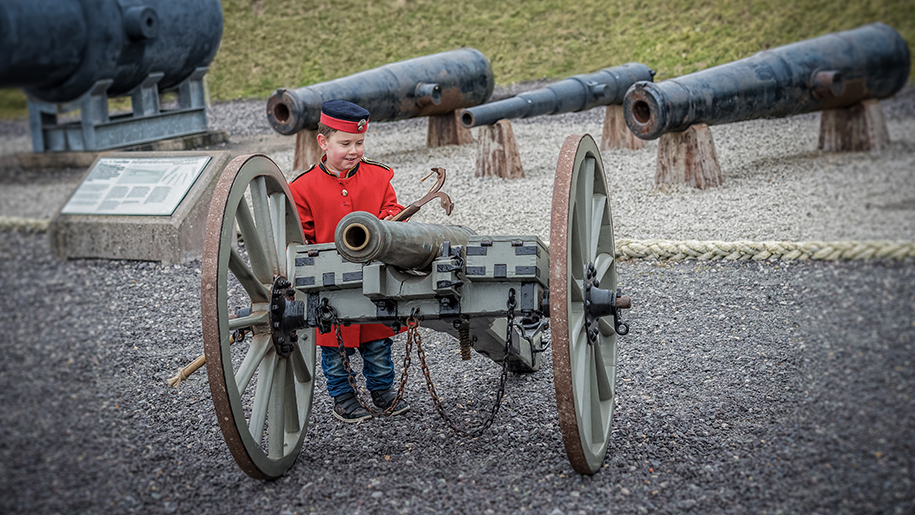 Fort Nelson Child with Cannon
