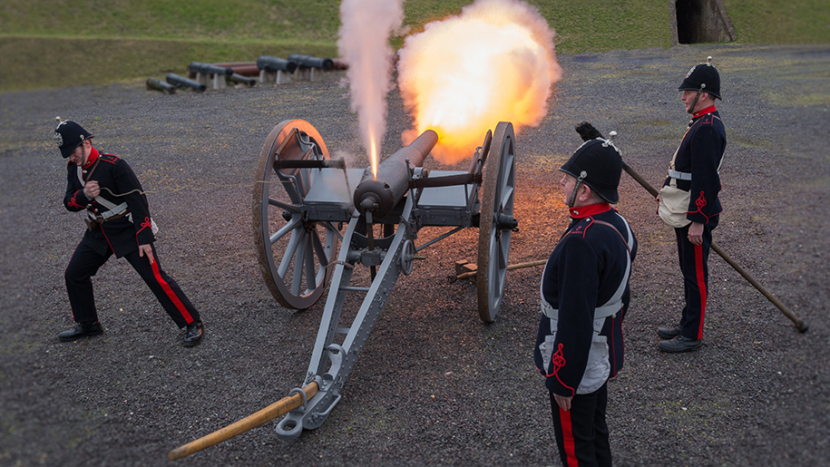 Fort Nelson cannon display