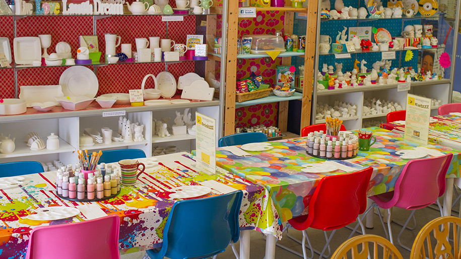 children's craft stations