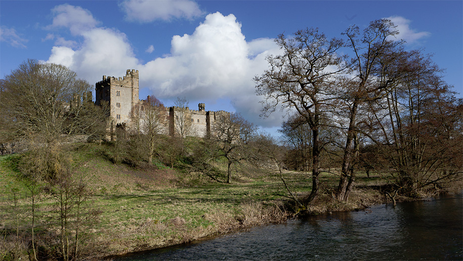 exterior haddon hall by the river