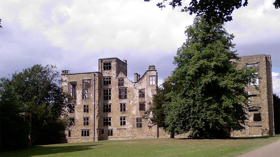 ruins of hall