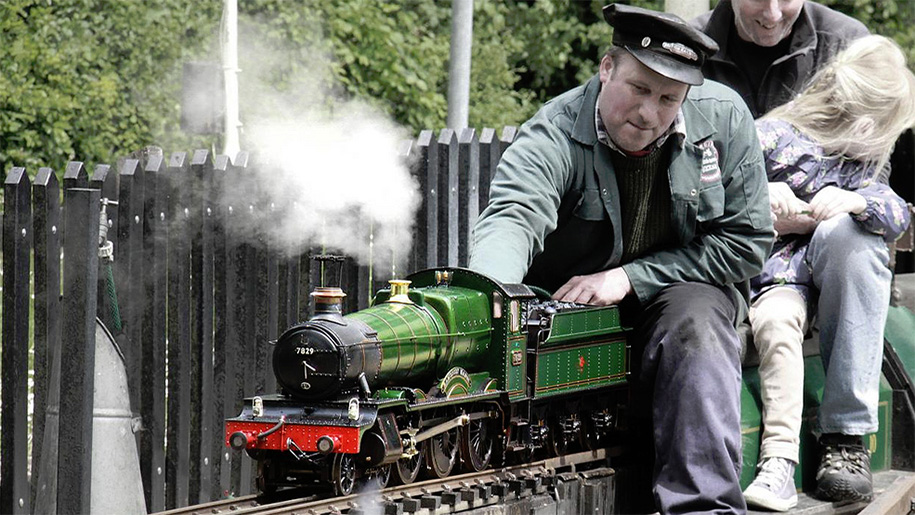 miniature steam train