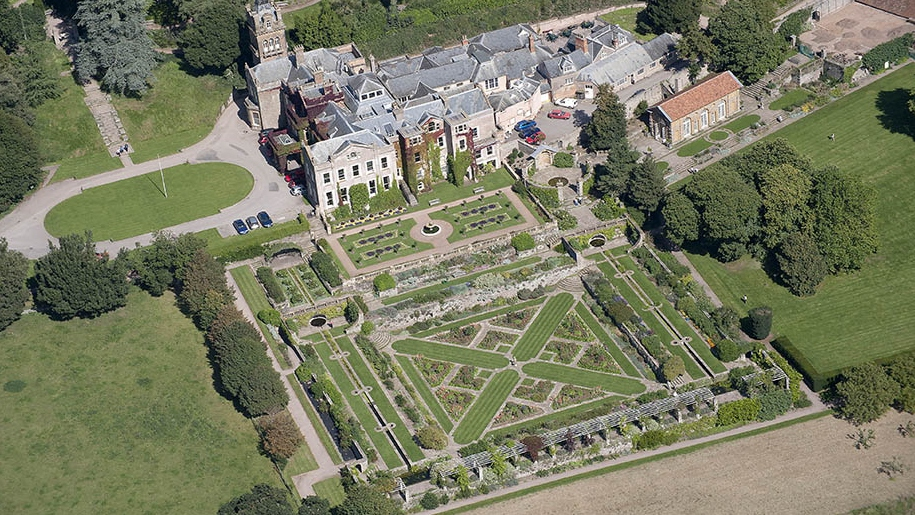 aerial view of hestercombe gardens