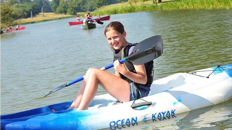 girl on kayak