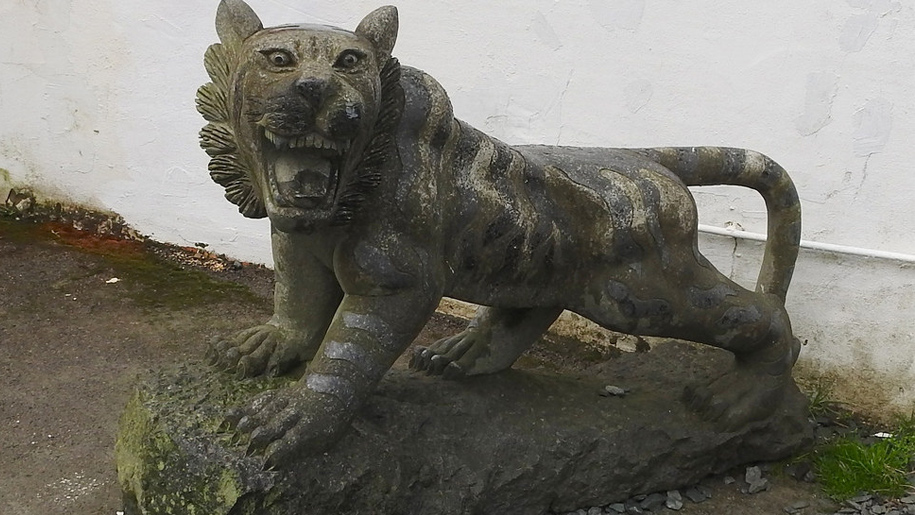slate statue
