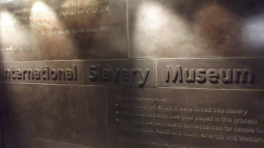 international slavery museum sign