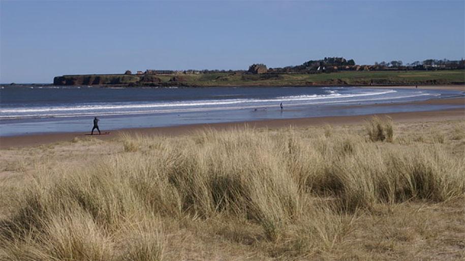 walking on the seaside