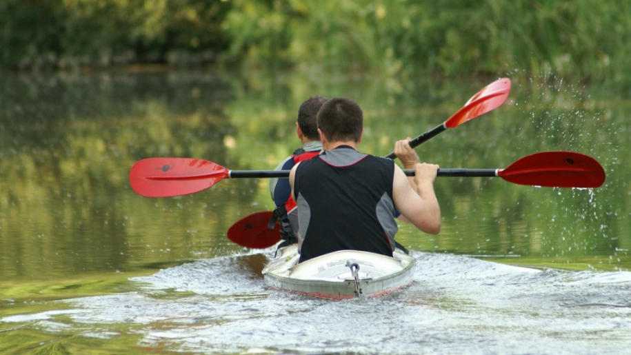 canoeing in canal