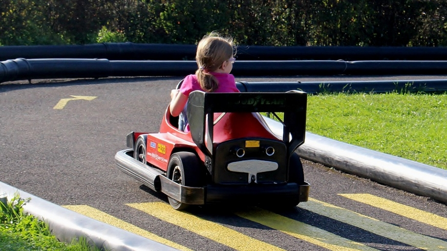 girl on go-kart