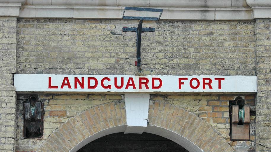landguard fort sign