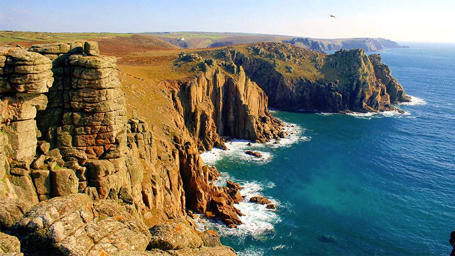 cliff at lands end