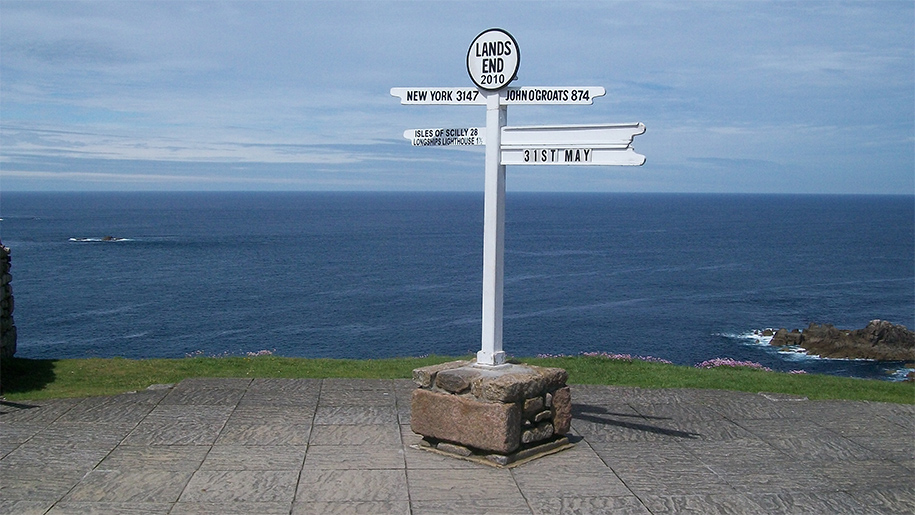 sign post at lands end
