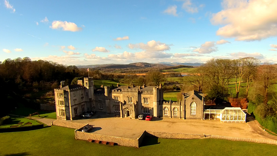 leighton hall aerial view