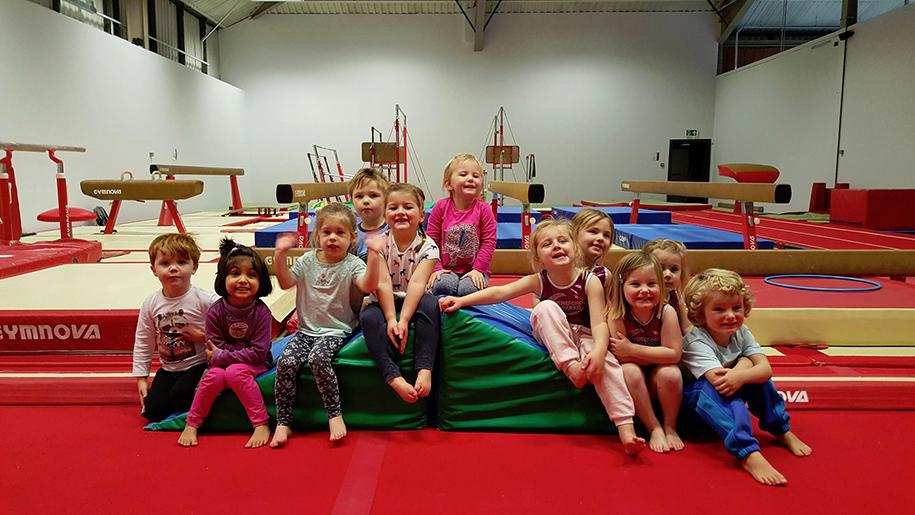 children in gymnasium