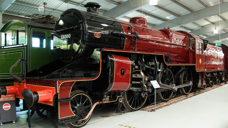 train in museum