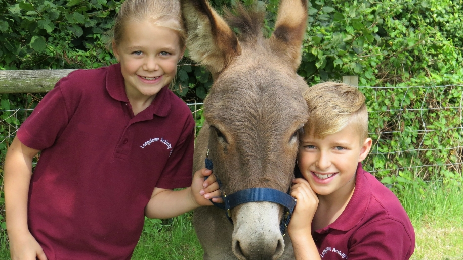 Children with Donkey