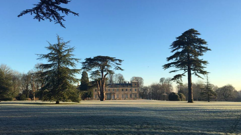 Lydiard park and house in winter