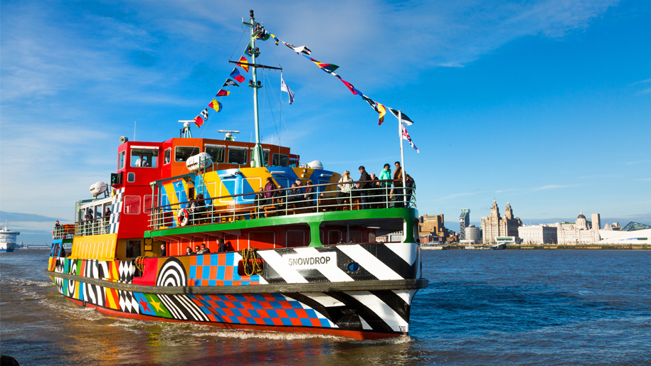 colourful ferry boat