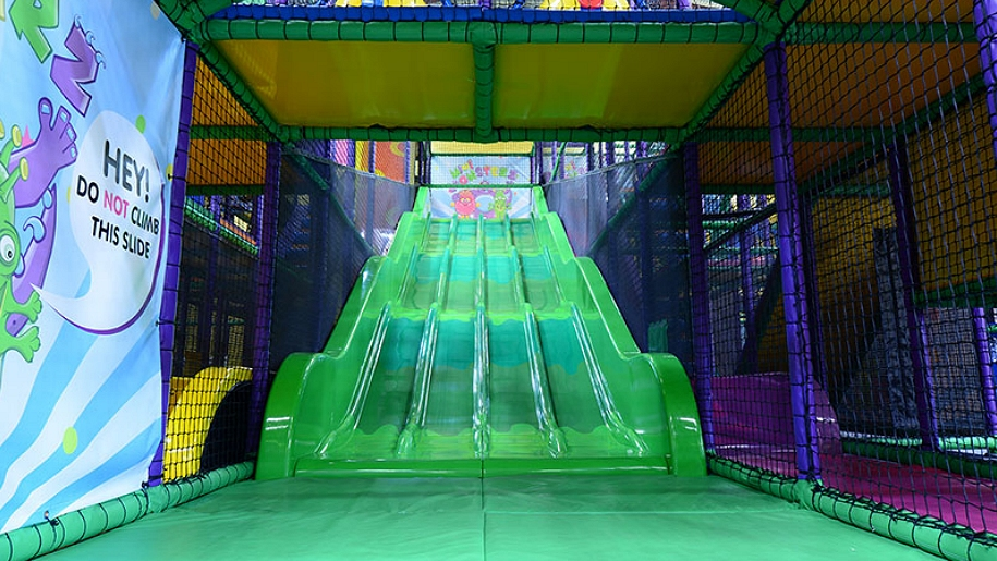 soft play green slide