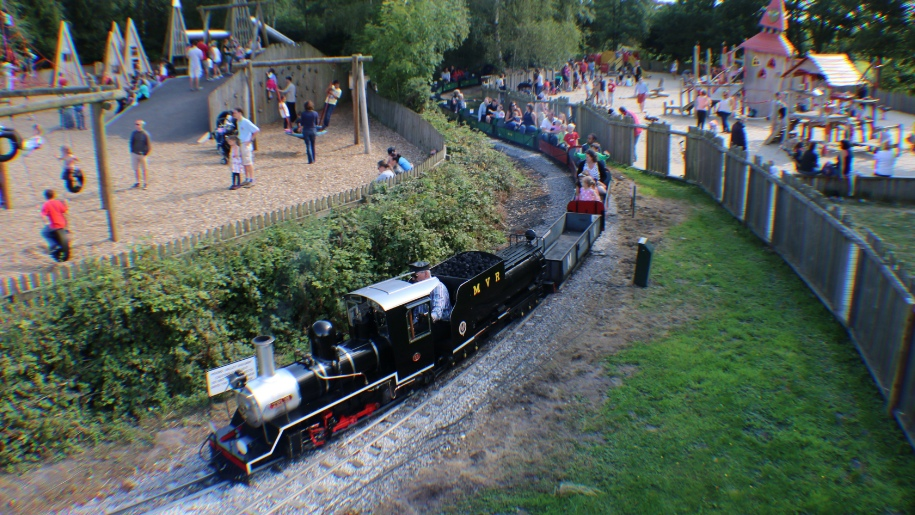 miniature railway through park