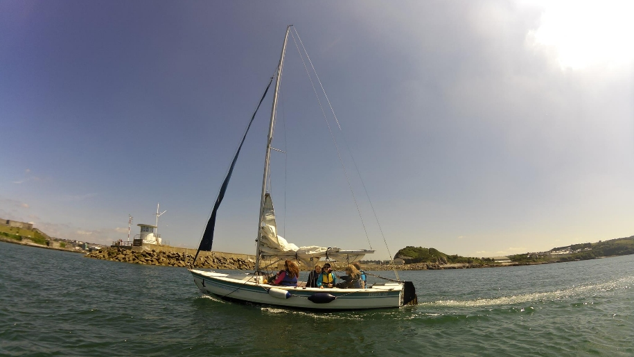 sailing in dinghy