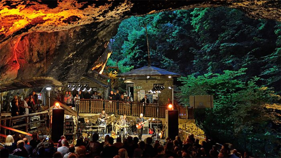 view of cavern at night