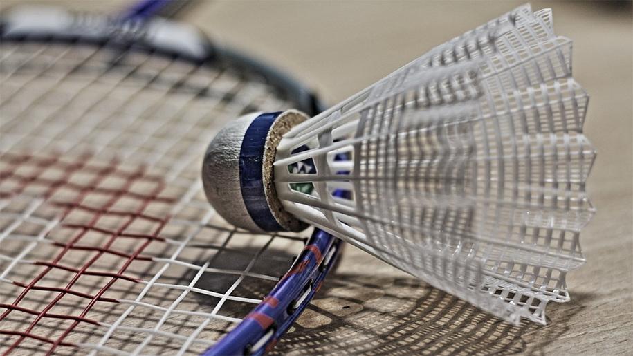 shuttlecock and racquet