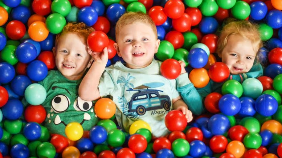 children in ballpit