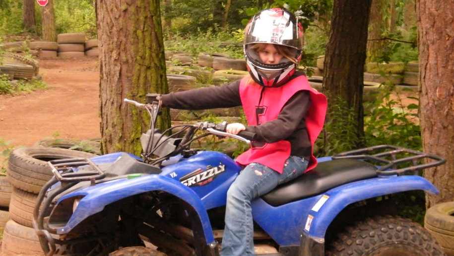 kid on quad bike