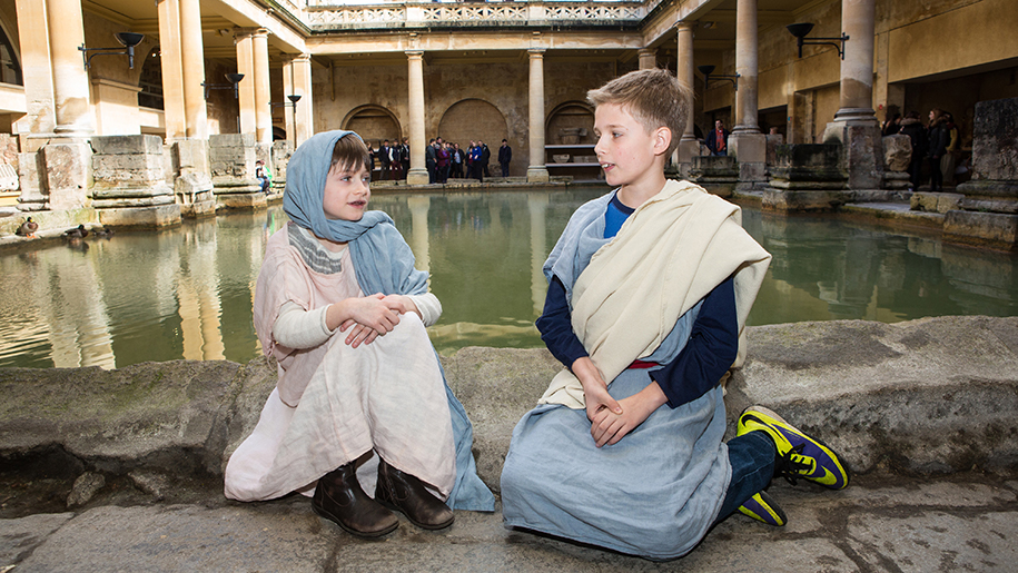 The Roman Baths children dressed up