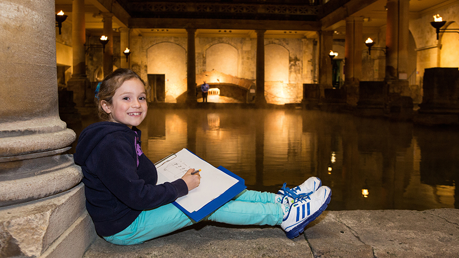 The Roman Baths child learning