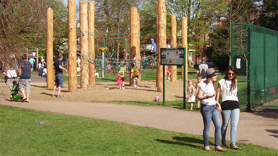 children on play park