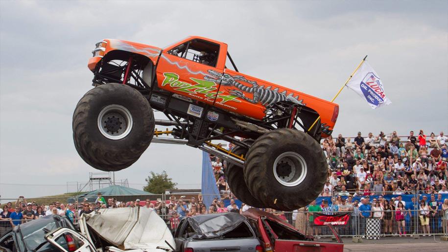 Santa Pod Raceway monster truck display