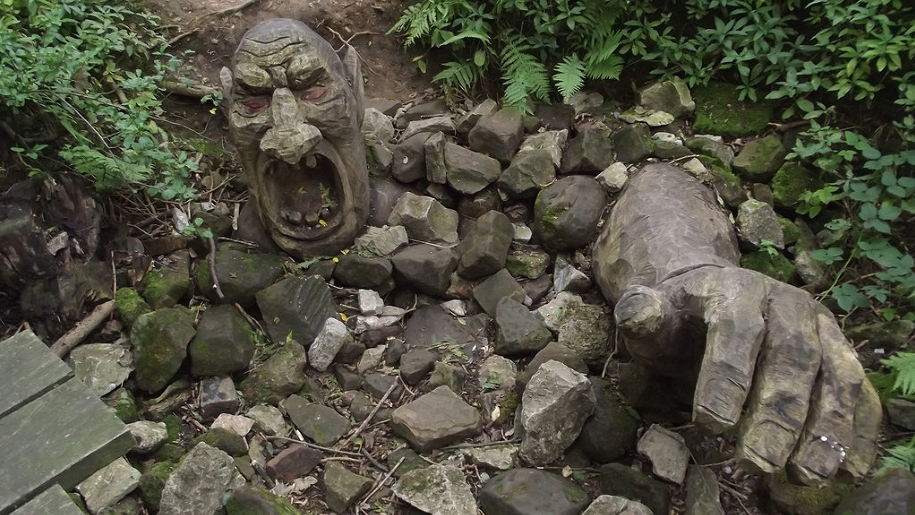 ogre rock sculpture