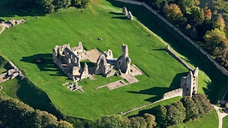 sherborne old castle ruins