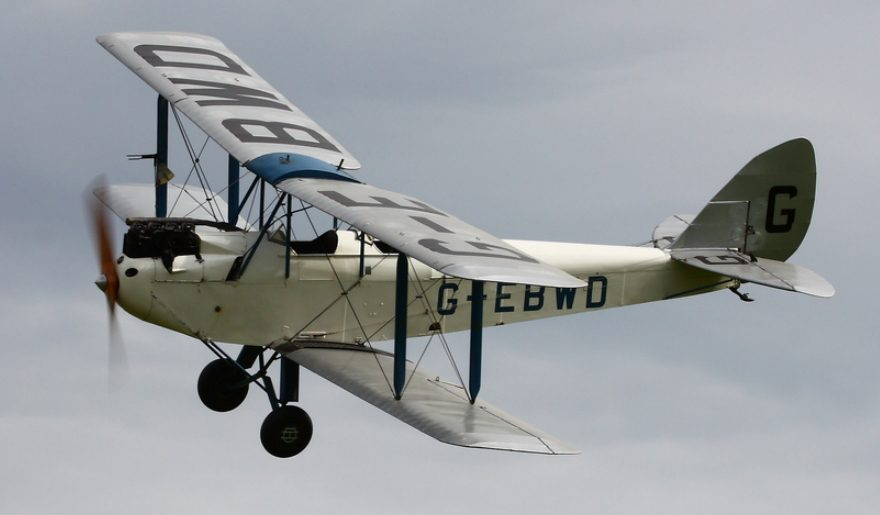 Shuttleworth Collection plane flying
