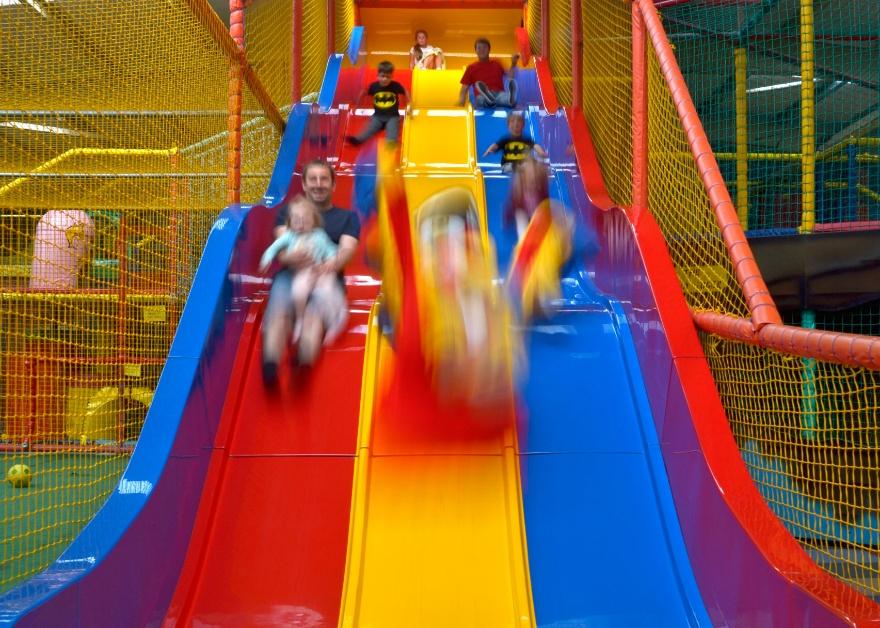 colourful slide