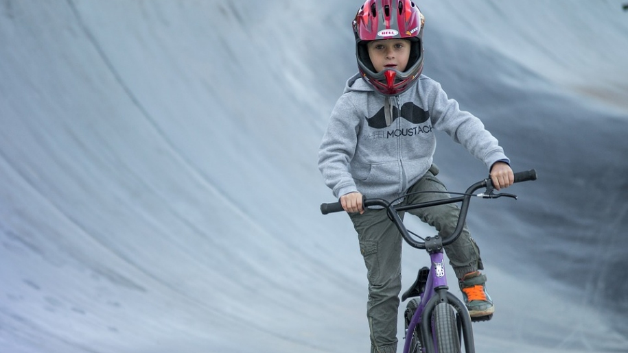 boy on bmx bike