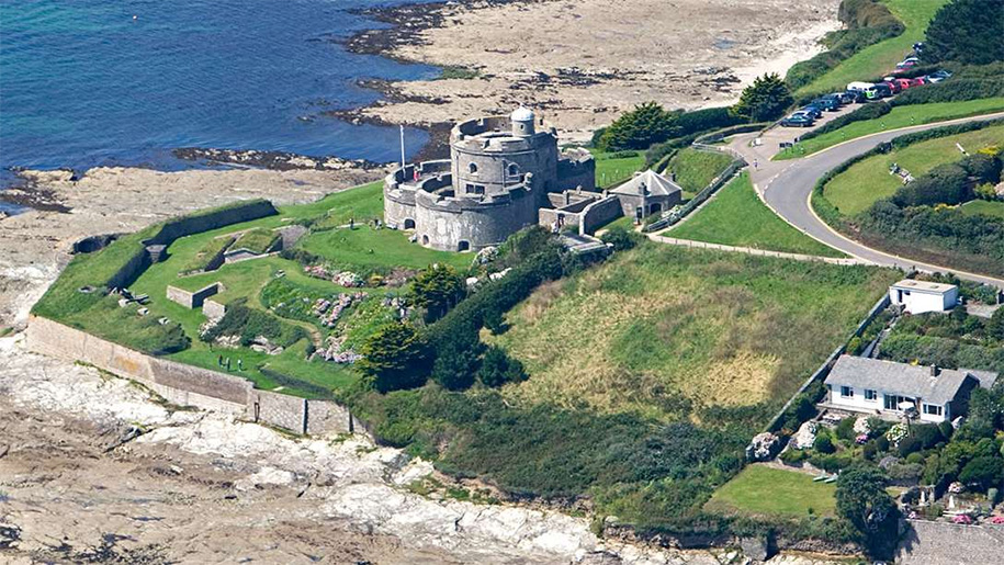 aerial view of st Mawes castle