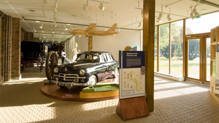 Car inside Stockwood Discovery Centre