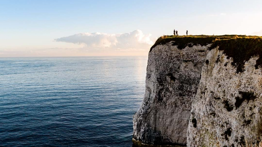 people on cliff