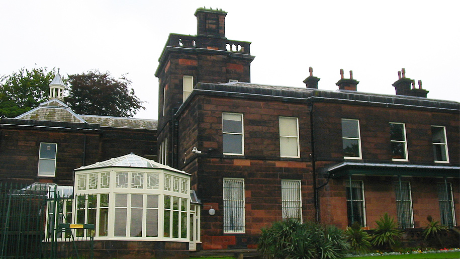 rear view of manor house