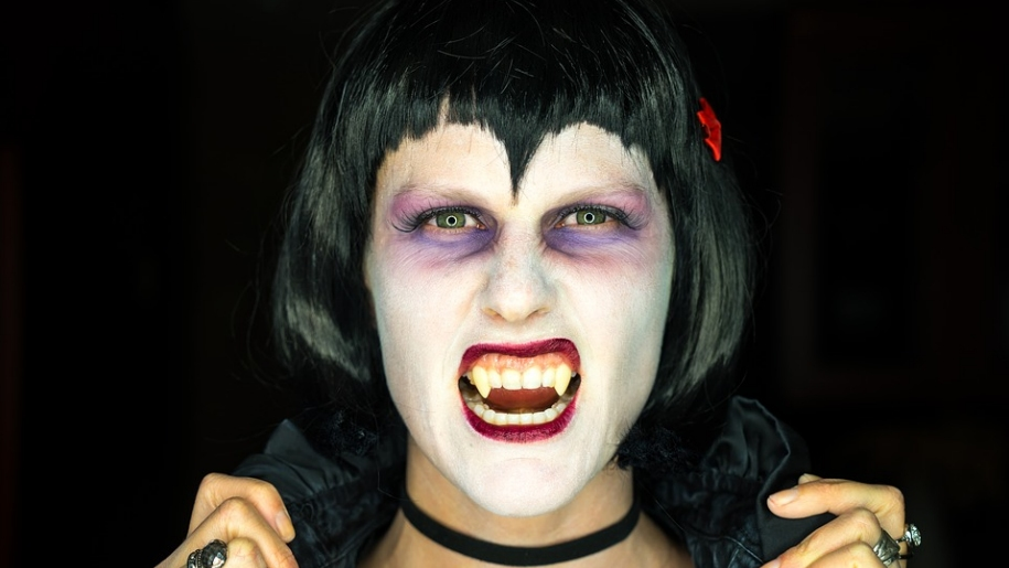 woman dressed as vampire