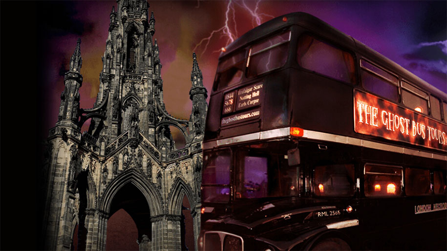 exterior of ghost tour bus