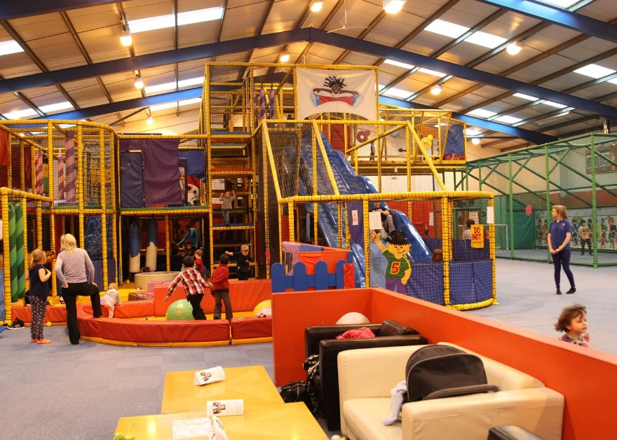 children in soft play area