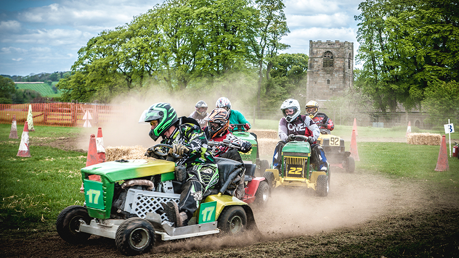 Thornton Hall quad bike racing