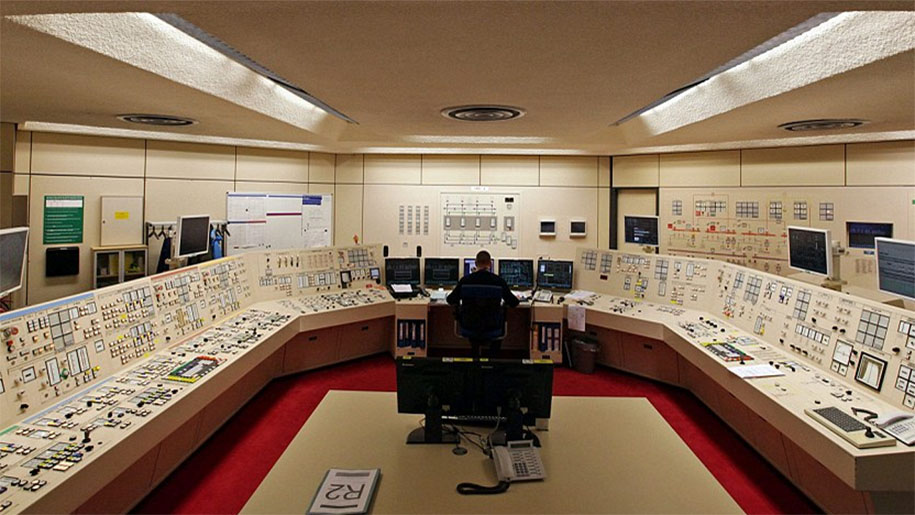 man inside control centre