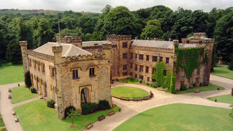 towneley hall aerial view
