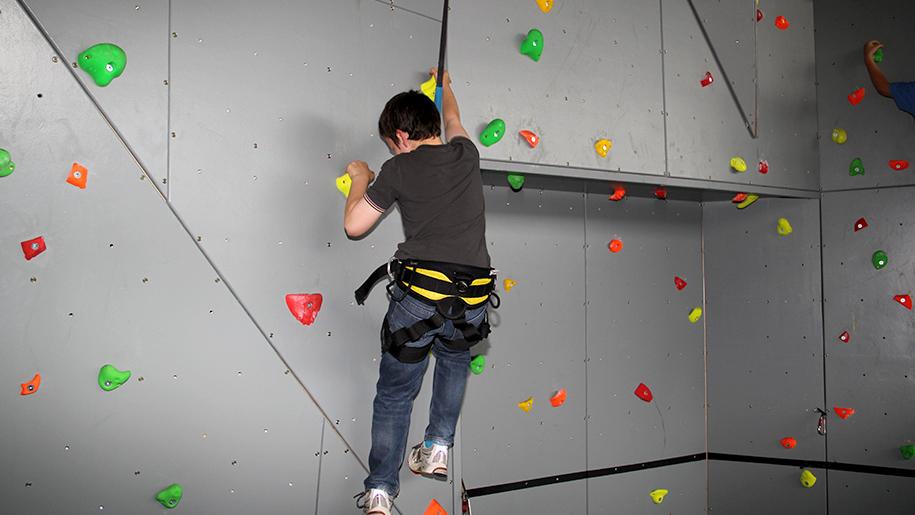 Twinwoods Adventure kid rock climbing